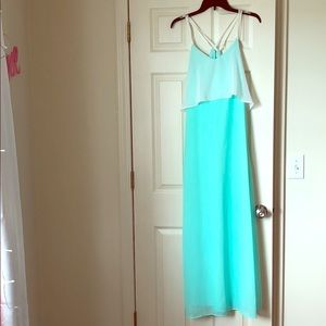 Full Length Charming Charlie Mint Green Dress